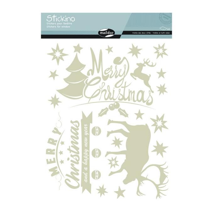Stickers fenêtre Noël Merry Christmas