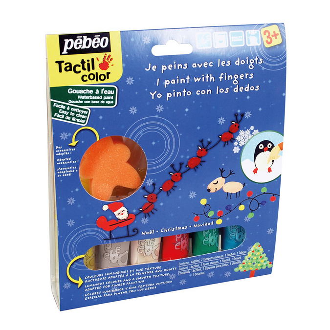 Peinture au doigt Tactilcolor kit de Noël