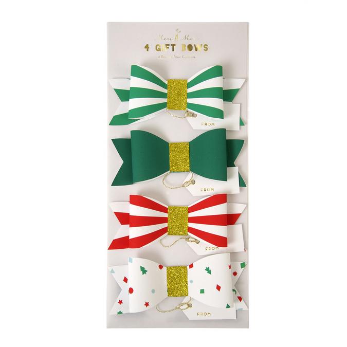 Etiquettes cadeaux nœuds papillon
