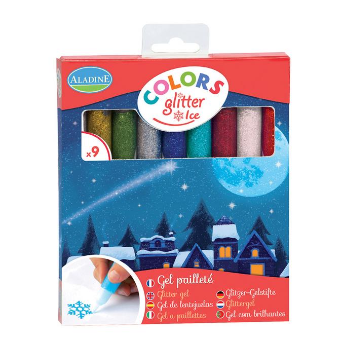 Gel pailleté Colors Glitter Ice - 9 pcs