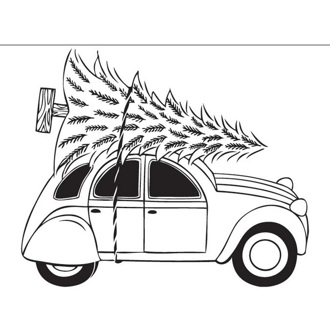 Tampon en bois voiture 5,2 x 7,2 x 2,8 cm