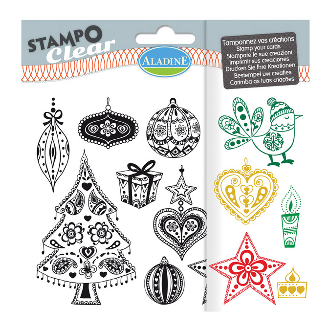 Tampon Stampo Scrap Noël zentangle