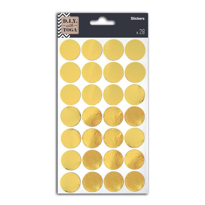 Stickers confettis or x 28 pces