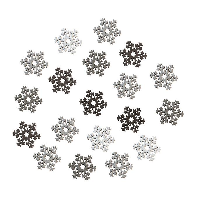 Flocons de neige miniatures en bois ø 2,3 cm x 24 pces