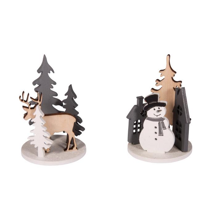 Décoration de Noël - Kit forêt d'hiver 4,5 - 7 cm