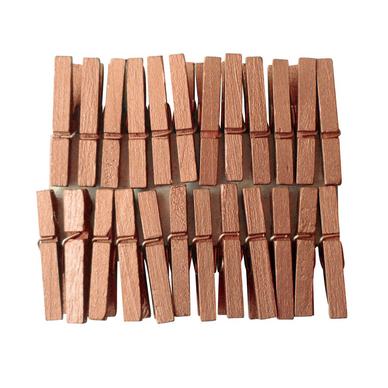 pinces linge d coratives cuivre 24 pces pw. Black Bedroom Furniture Sets. Home Design Ideas