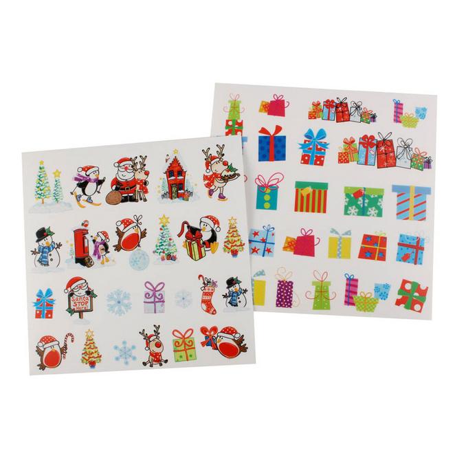 Stickers transparents motifs de Noël - par 48