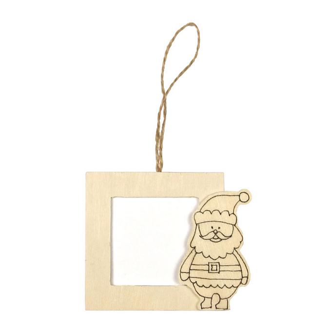 Cadre photo à colorier Père Noël 8,5 x 7 cm