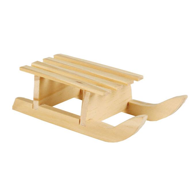 Mini luge en bois 10 x 4 x 2,8 cm