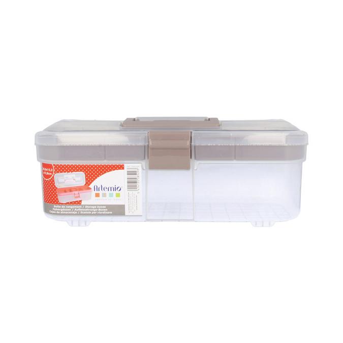 Boîte de rangement en plastique 34,8 x 15,2 x 12,8 cm