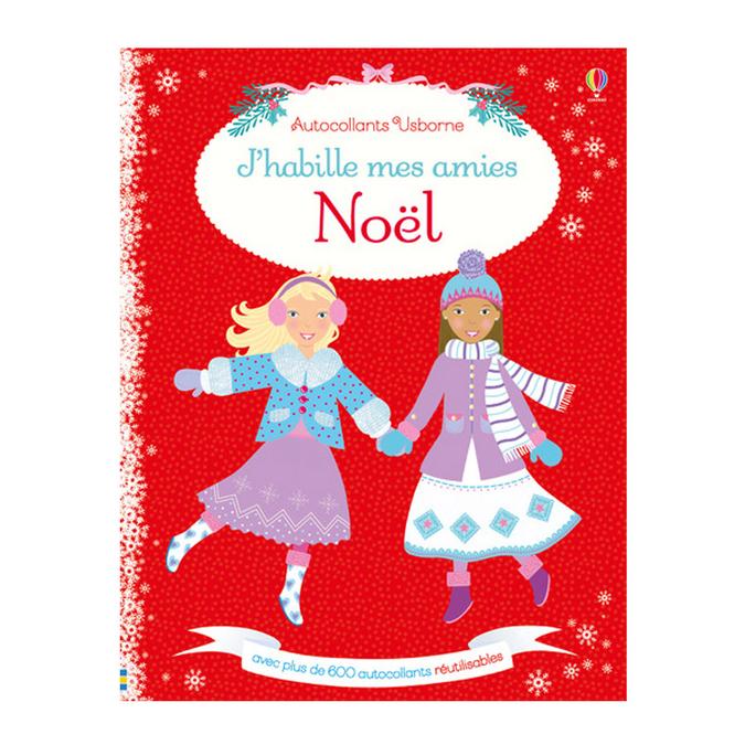 Livre de stickers - J'habille mes amies thème Noël