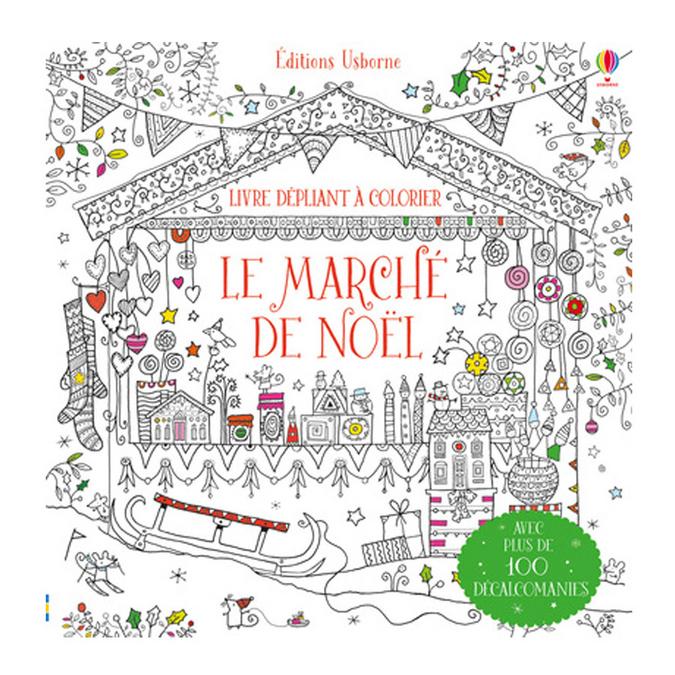 Livre - Le marché de Noël à colorier