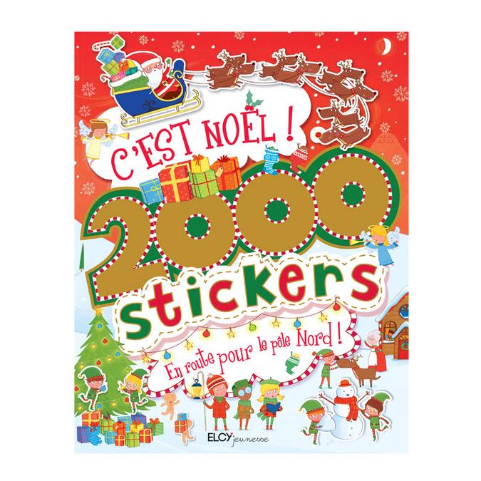 Livre de stickers - 2 000 Stickers c'est Noël