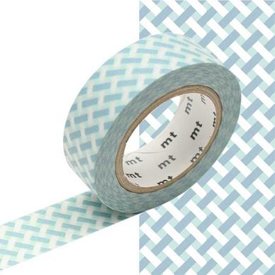 ruban d coratif adh sif tressage bleu 1 5 cm x 10 m masking tape mt chez rougier pl. Black Bedroom Furniture Sets. Home Design Ideas