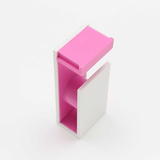 Dérouleur magnétique pour Ruban décoratif adhésif - rose & blanc