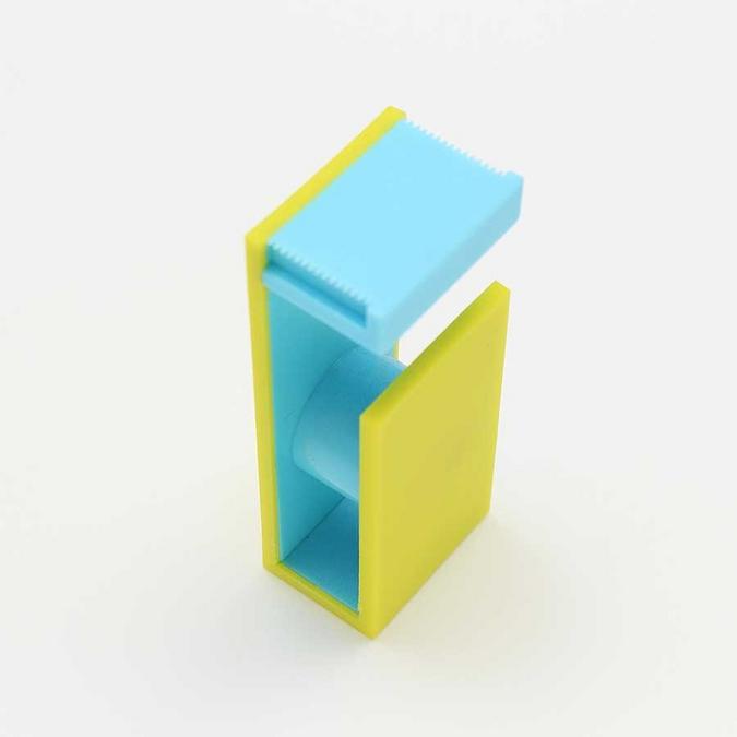 Dérouleur magnétique pour Ruban décoratif adhésif - jaune & bleu