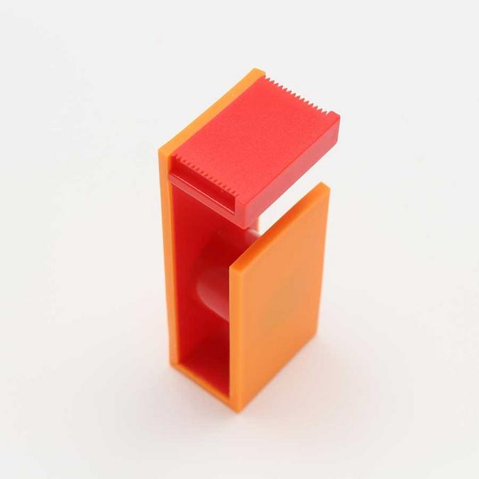 Dérouleur magnétique pour Ruban décoratif adhésif - orange & rouge