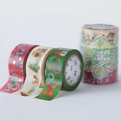 rubans d coratifs adh sifs no l b set de 3 masking tape mt chez rougier pl. Black Bedroom Furniture Sets. Home Design Ideas