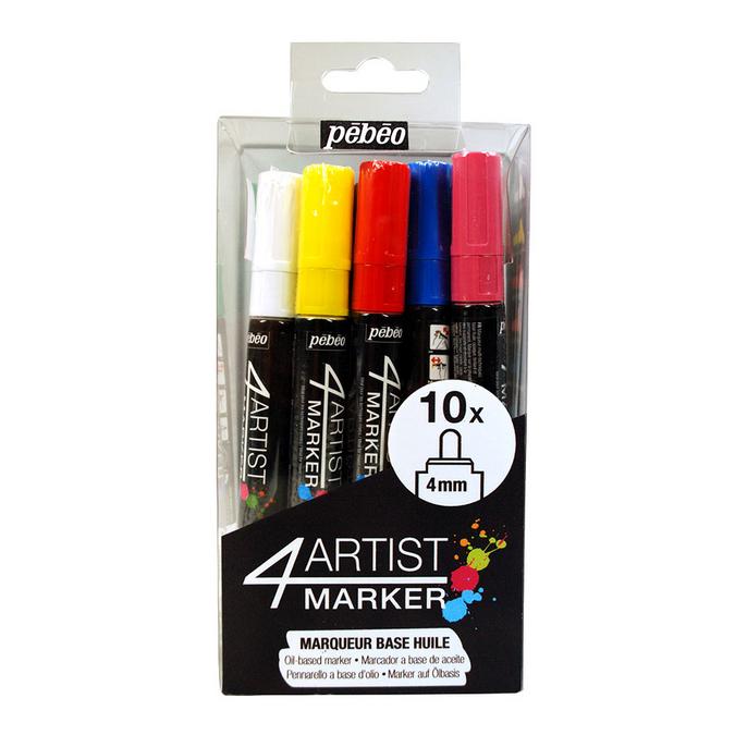 Feutre peinture 4Artist Marker 4 mm - Assortiment 10 pcs