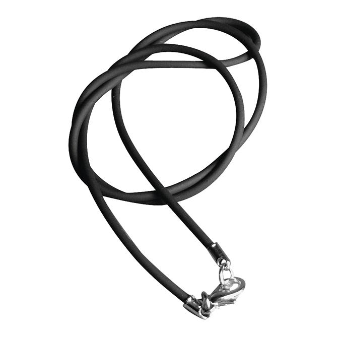 Collier en caoutchouc noir 42 cm Ø 2 mm