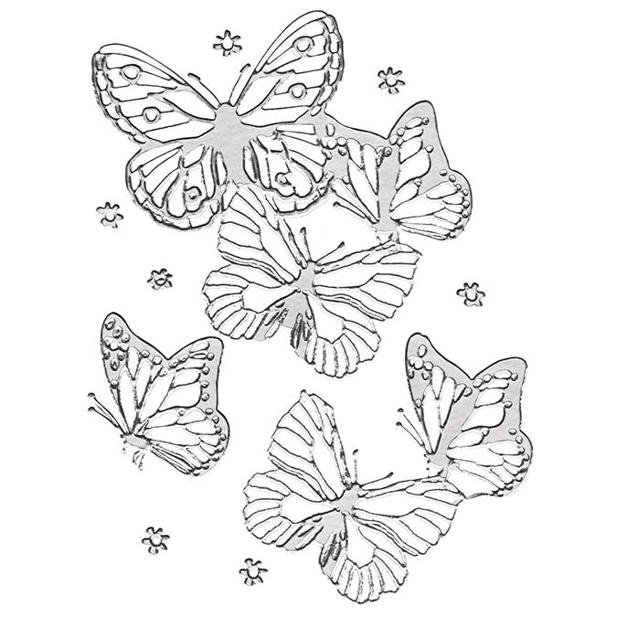 Stickers 3D papillons argent