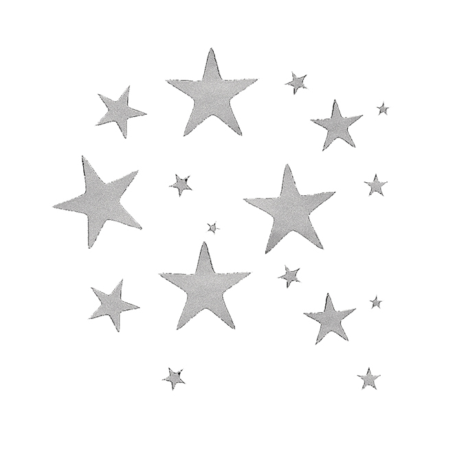 Stickers étoiles argent