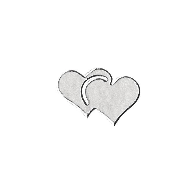 Stickers cœurs argent