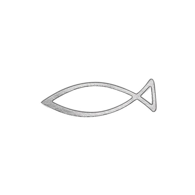 Stickers poisson religieux argent
