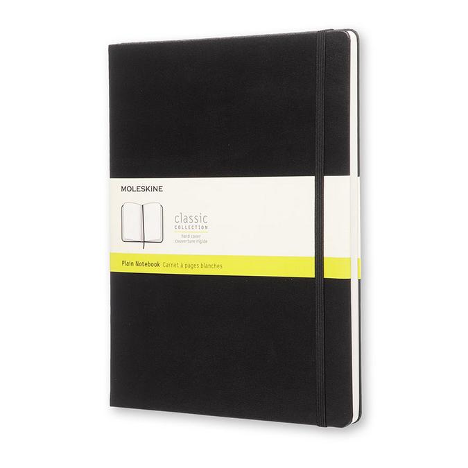 Carnet de note XL - Couverture noire - Page blanche - 19 x 25 cm