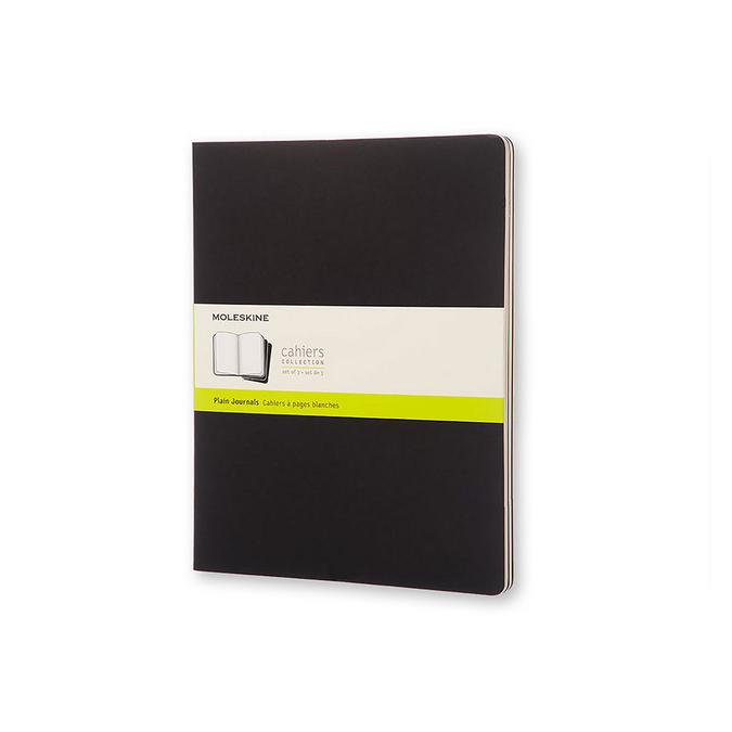 Cahier de note XXL Couverture noire Page blanche 21,6 x 27,9 cm par 3