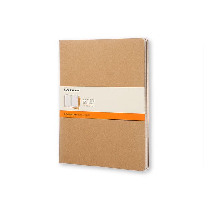 Cahier de note XXL - Couverture kraft - Page ligné - 21,6 x 27,9 cm par 3