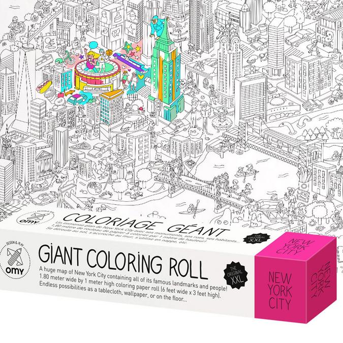 Rouleau de coloriage géant XXL - thème New-York - 100 x 180 cm