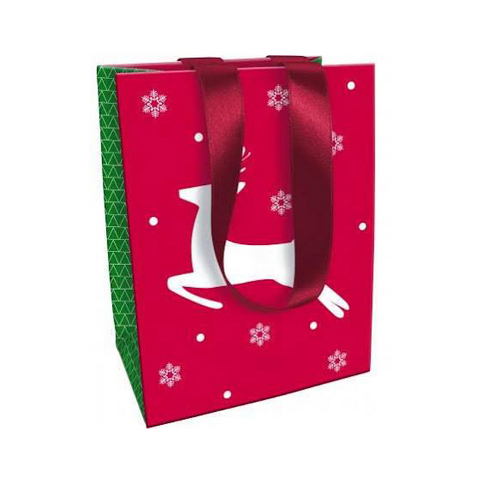 Sac en papier pour cadeau Noël Tradi Chic - 19 x 12 x 25 cm n°1