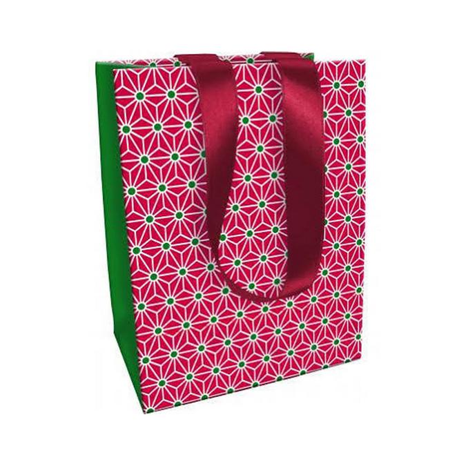 Sac en papier pour cadeau Noël Tradi Chic - 19 x 12 x 25 cm n°2
