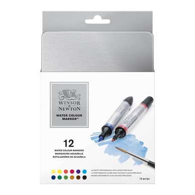 Marqueur d'aquarelle double pointe - set de 12