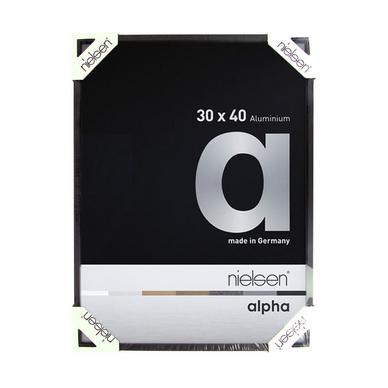 Cadre alpha en aluminium noir anodis mat nielsen chez for Peindre aluminium anodise