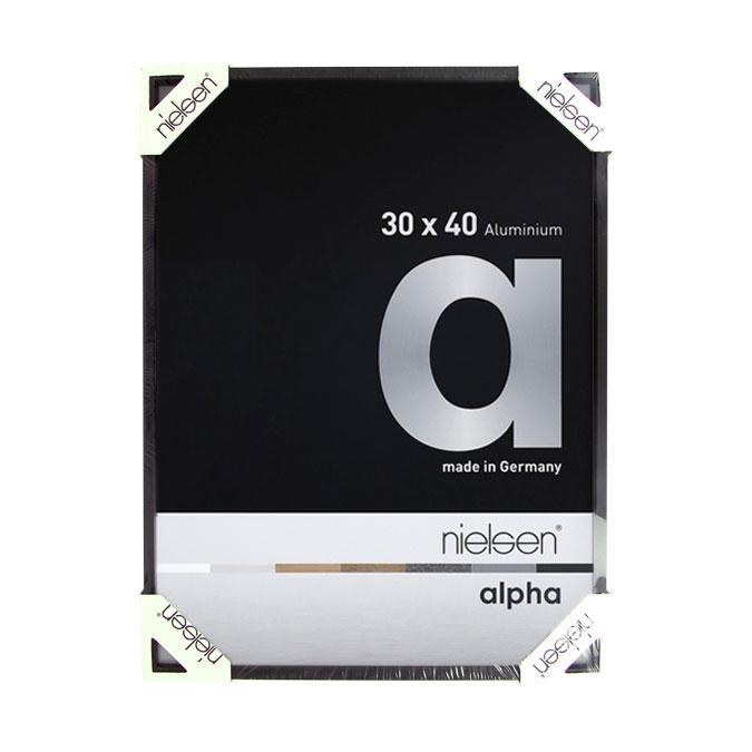 Cadre en aluminium Alpha Noir anodisé Mat