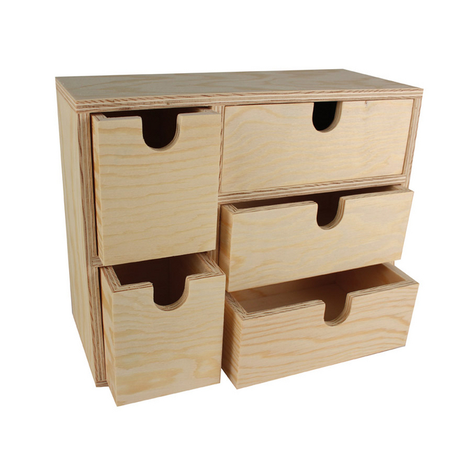 Petit meuble de rangement en bois - 22 x 19 x 18 cm