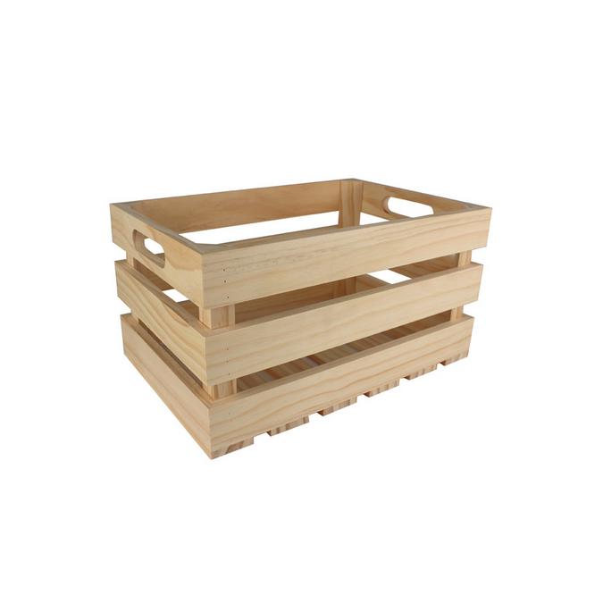 Caisse de rangement vintage en bois - 27 x 17 x 14 cm