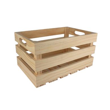 Caisse de rangement vintage en bois 32 5 x 32 5 x 17 cm - Caisse rangement bois ...