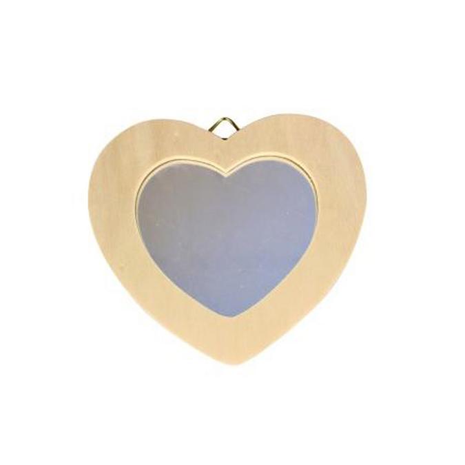 Miroir cœur à accrocher - 12 x 8 cm