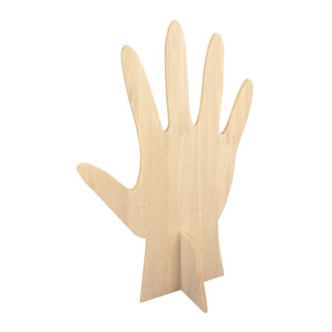 Porte bague en bois - 15 x 10 cm