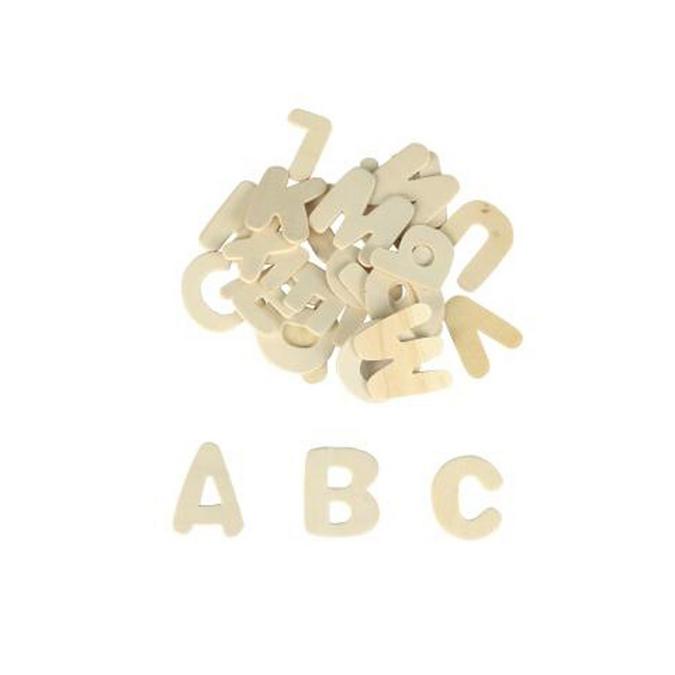 Lettres alphabets en bois - 3,5 x 0,2 cm - 26 pcs