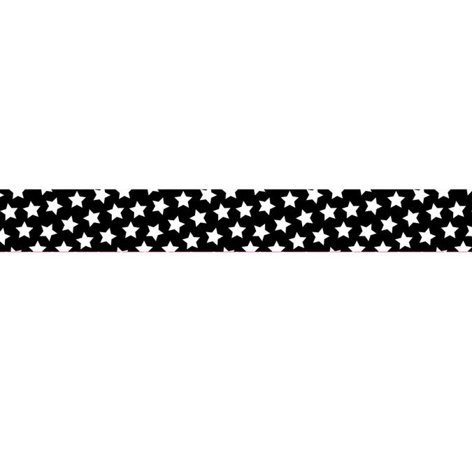 Dévidoir ruban adhésif noir étoiles blanches - 1,5 cm x 10 m