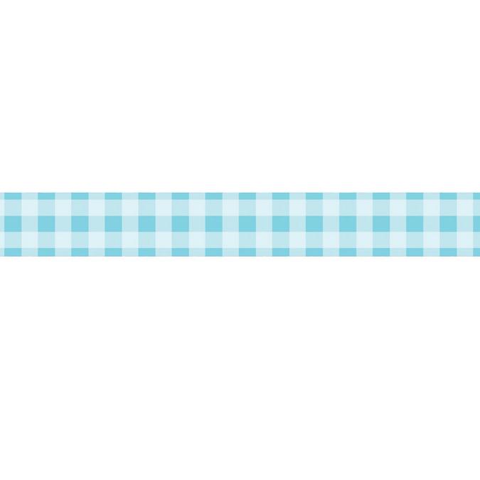 Dévidoir ruban adhésif vichy bleu - 1,5 cm x 10 m