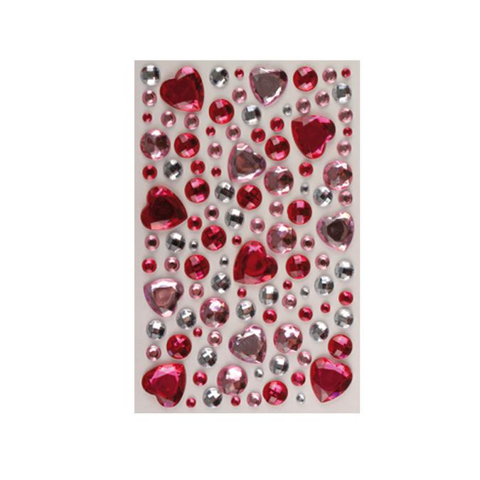 Strass cristal cœur autocollants 106 pcs