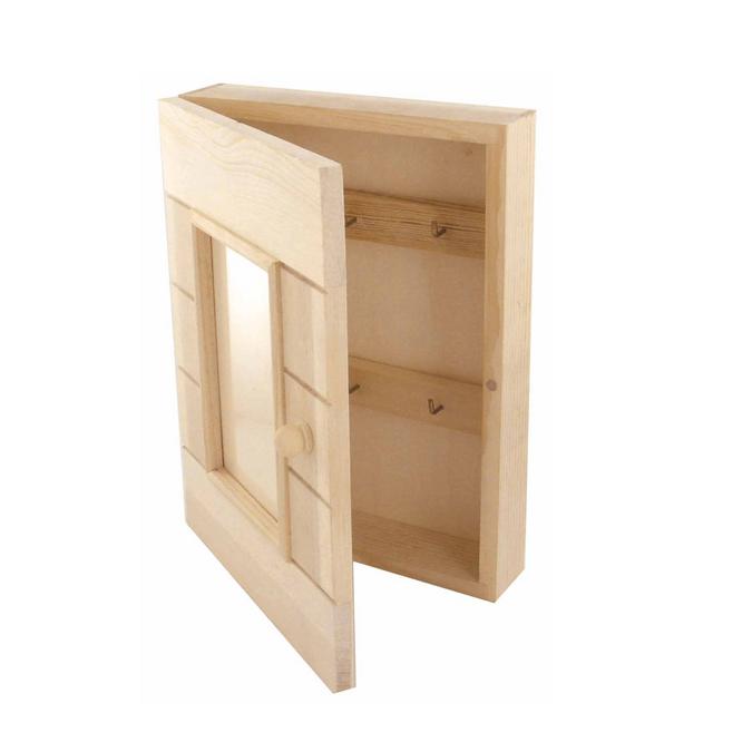 Cadre armoire à clefs en bois - 20 x 5 x 26 cm