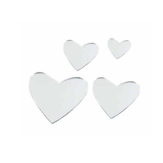 Miroirs Cœurs - 8 pcs