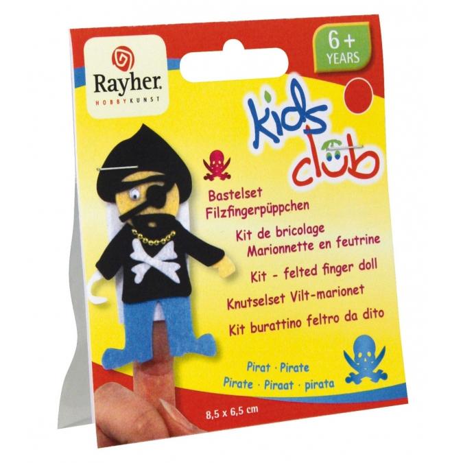 Kit marionnette en feutrine thème pirate