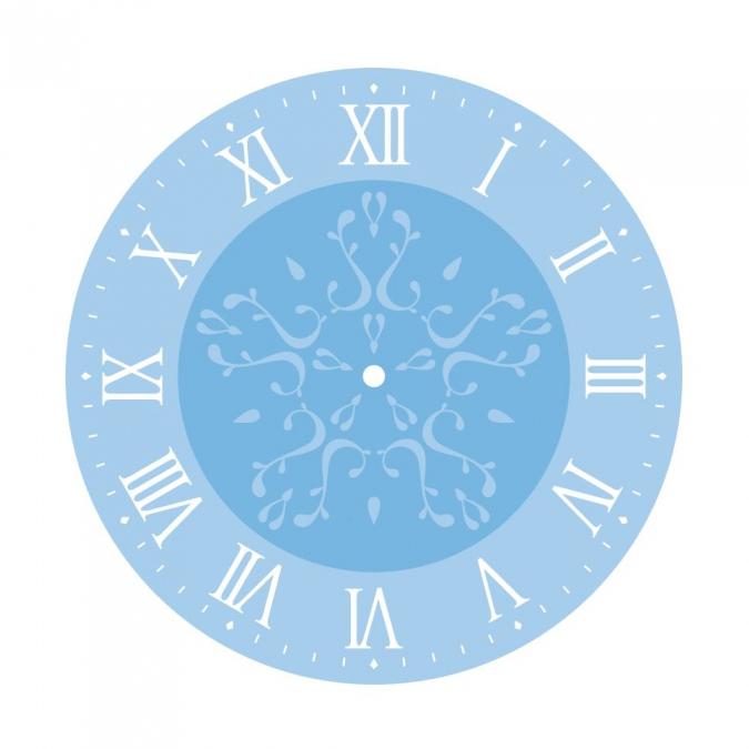 Kit pochoirs pour horloge chiffre romains